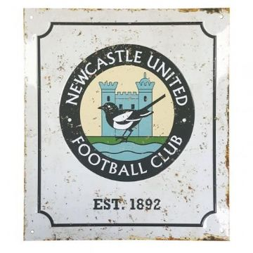Newcastle United Retro Logo Sign
